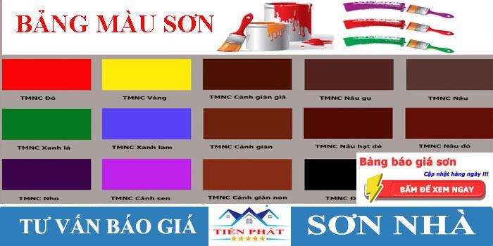 Màu sơn nội ngoại thất nhà đẹp