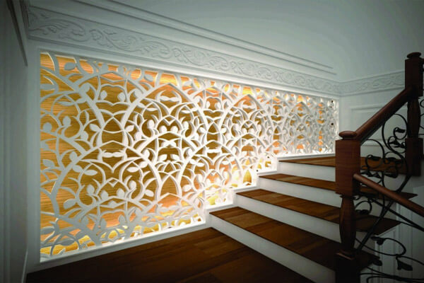 Thiết kế vách trang trí mang phong cách cổ điển