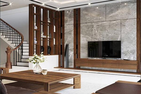 Vách ngăn gỗ đẹp với thiết kế sang trọng và hiện đại